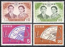 Japan 1959 Royal Wedding/Fans/Royalty 4v set (n25321)
