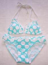 Playboy Ladies Bunny Swim Aqua Printed Bikini Bathers Swimsuit Size 8 New