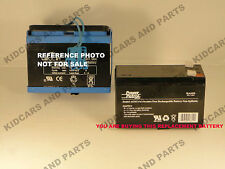 PEG PEREGO 12 VOLT 8 AH SLIM BATTERY REPLACEMENT *NEW* BARE  BATTERY++ NO WIRES