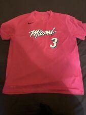 Nike Miami Heat Dwyane Wade Hot Pink Player T-Shirt