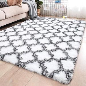 Modern Floor Rug Large Shaggy Area Rugs Soft Carpet Living Room Mats Long Pile