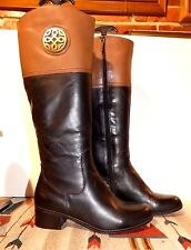 "Women's Franco Fortini Riding Field Boots ""Roxanne"" Black/Brown Leather Sz. 7.5"