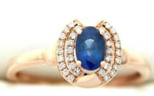 DIAMOND SAPPHIRE RING .86 CT JACK GUTSCHNEIDER DESIGNER