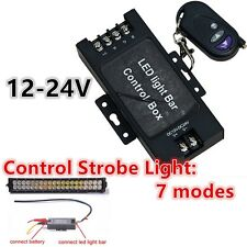 LED Work Light DRL Battery Box Wireless Remote Flash Strobe Controller 7 Modes