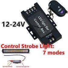 LED Luz de trabajo DRL la Caja de Batería Controlador inalámbrico de control remoto de Flash estroboscópico 7 modos