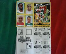Album Africa cup 2008 panini foglio promozionale con extrasticker RARE