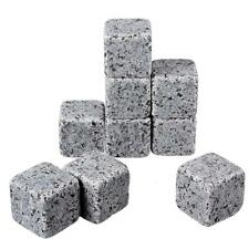 *UK Seller* Whisky Stones Ice Cubes Scotch Whiskey Cooler Chiller Granite Rocks