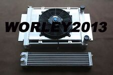 Aluminum radiator shroud oil cooler for Mazda RX2 RX3 RX4 RX5 with heater pipe