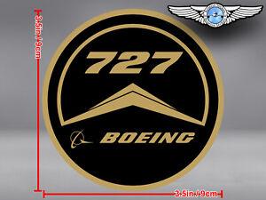OLD VINTAGE STYLE ROUND BOEING B 727 B727 LOGO DECAL / STICKER