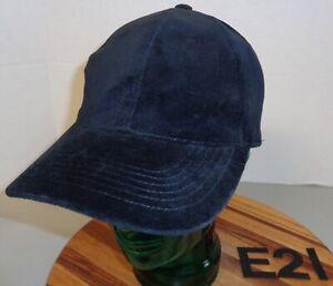 WOMENS IRVINE PARK BLACK VELVETEEN BASEBALL HAT ADJUSTABLE VERY GOOD COND E21