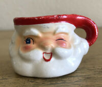 Vintage Holt Howard Santa Winking Mug Miniature Flawed