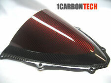 06 07 2006 2007 SUZUKI GSXR 600 750 CARBON FIBER RED HYBRID WINDSCREEN