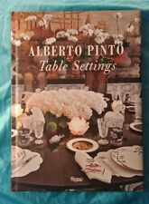 Table Settings by Alberto Pinto Hardcover Book ~ 2010~