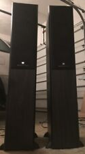 2 Mordaunt-Short MS 502 THX Integrated Sub Woofer Amplifier Speaker Towers