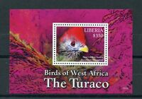 Liberia 2015 MNH Birds of West Africa 1v S/S Red Crested Turaco