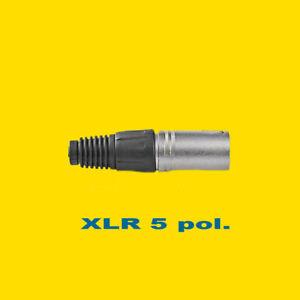 XLR-Stecker 5-pol. Metall