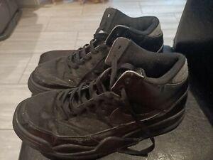 Nike Flight Man Trainer Shoes Less up Black Color Size 9