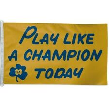 Notre Dame ~ Play Like A Champion Today ~ Large 3x5 Foot Flagpole Flag ~ New!
