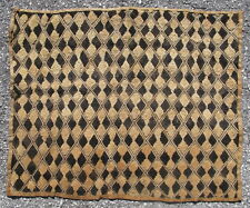Vintage African raffia cloth Kuba People Shoowa Kasai velvet Congo 27x23in 11762