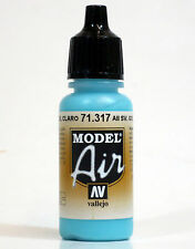 Vallejo Model AIR - GOL LIGHT BLUE 71.317 Acrylic Paint 17ml Airbrush Ready