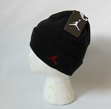 NIKE AIR JORDAN JUMPMAN 23 MENS BLACK RED SNOWBOARD SNOW SKI BEANIE HAT CAP