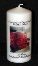 Cellini Candles Personalised Photo Candle First Birthday Memento Baby Gift
