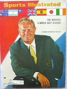 Vintage Sports Illustrated 4/10/1967 ~ Masters Nicklaus ~ Ford Shelby v Ferrari