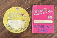 More details for two original crew access all areas rod stewart vagabond tour passes june 1991