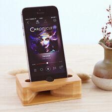 Wood Bamboo Phone Holder Sound Speaker Amplifier Desk Dock Stand for iPhone US