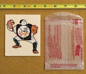1970's Impko Water Decal New York Yankees Unused Vtg MLB Bright Beautiful w/Bag