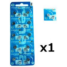 1 x Renata 364 1.55v Watch Cell Battery SR621SW Mercury Free