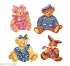 IMPERIAL RUB ON INSTANT STENCIL BEARS 3 SHEETS OF 4 BEARS- REALLY COOL