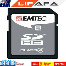 Emtec Memory SD Card 8GB Ultra Extreme Silver SDHC SDXC Class 4 Laptop Mobile LF