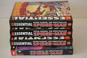 Essential Spectacular Spider-Man Vol 1 2005 2 3 5 TPB Lot Softcover 1st Prints