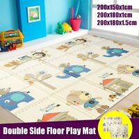 200x180cm 2 Sides Baby Crawling Thick Play Cover Mat Folding Rug Floor  UK AU