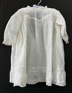 Primitive Child Toddler Dress-Vintage Old White