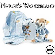 STEIFF Original BLUE Good Night DOG - Gift Set COMFORTER & ROMPER - BABYWORLD