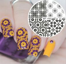 Born Pretty Nail Art Stamping Plates Image Stencil Template Flower Design BP-110