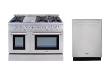 "Thor All Gas 48"" Range and 24"" Dishwasher Hrg4808U & Hdw2401Ss"