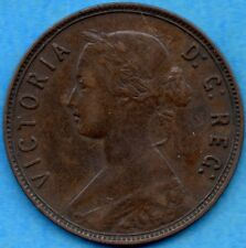 Canada Newfoundland 1888 1 Cent One Large Cent Coin - Very Fine
