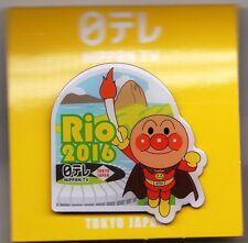 RIO 2016. OLYMPIC GAMES. MEDIA PIN. NIPPON TV JAPAN.WITH ORIGINAL PACKAGING