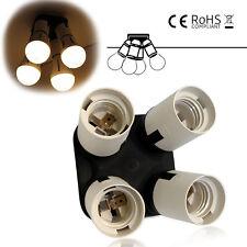 E27 to 4X E27 Light Bulb Socket Adapter Splitter Converter Lamp Holder Adapter