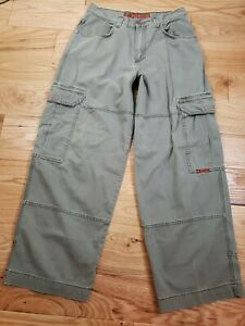 Vintage VTG JNCO Jeans Men's Cargo Khaki pants Indicator Twill 34x32