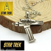 STAR TREK PHASER pendant Necklace Antique Silver color Collectible gift USA KIRK