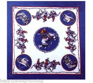 *USA MADE RODEO COWBOY WESTERN Boots Hat BLUE Flag Bandana Hanky Scarf Scarve