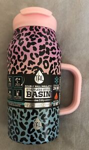 NEW TAL 40oz Basin Pink Leopard Sports Outdoors Water Hydration Bottle Mug