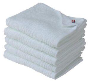 X5 Japanese IMABARI Face Bath Towel Cotton 100% 85 x 34 cm Made in JAPAN White