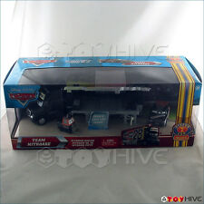 Disney Pixar Cars Team Nitroade hauler and crew Piston Cup Nights series