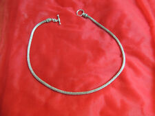 Vintage Ethnic India Sterling Silver Asian Tribal Celtic Chain Necklace Choker