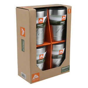 Ozark Trail 10 Oz Stainless Steel Lowball Vacuum Insulated Double Wall 4 pk new